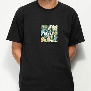 HUF Havana Floral Box Logo Black T-Shirt